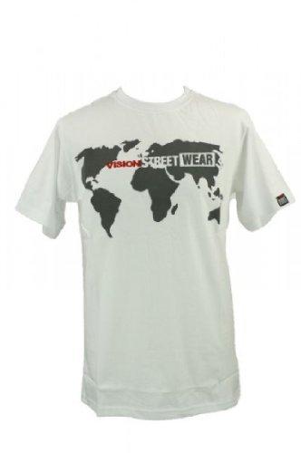 Vision Street Wear World Vision T-Shirt Tee Skateboarding Skate Men, Farbe:Weiss;Bekleidung:XL