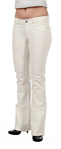 LTB Jeans donna Hüftjeans Elvina - White Wash Bootcut, bagliore White Wash W31