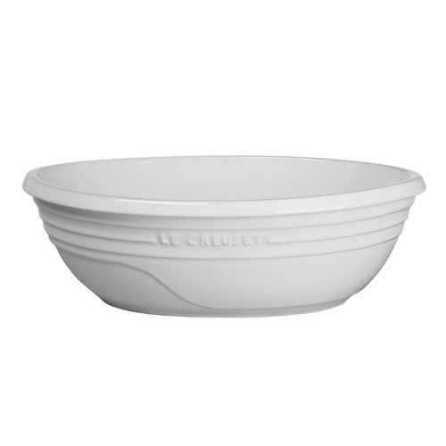 Le Creuset Stoneware Oval Serving Bowl, Color: White, Size: 3 1/2 Quart
