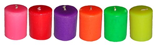 Atorakushon Smokeless Scented Pillar Candle Pack Of 12 Colour Tall Round Candles For Diwali X-mas Party