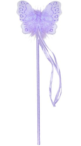 Purple Marabou Nylon Butterfly Fairy Wand Dress Up Birthday Party Favor Costume