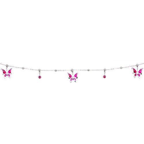 Pink Wonderland Butterfly Belly Chain