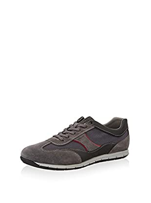Geox Zapatillas UOMO ACTIVE A (Antracita / Rojo)