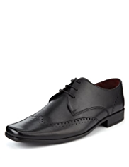 Autograph Leather Extra Wide Fit Lace Up Wingtip Shoes