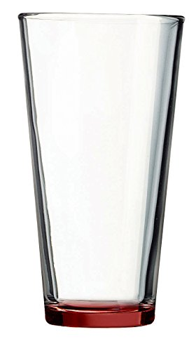 Red Bottom Pint Glass - Additional Colors Available - 16oz Set of 6