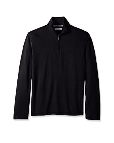 Alex Cannon Men's Long Sleeve Interlock 1/4 Zip Mock Neck Knit