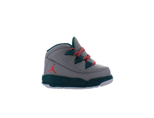 Boys Air Jordan Deluxe TD Wolf Grey Bright Crimson Radiant Emerald 807716-007 US 3c