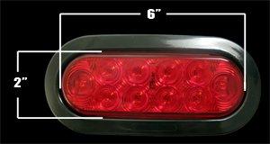 """6"""" Red Led Truck Trailer Light Kit Stop Tail Turn Stt"""