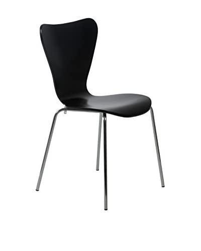 Euro Style Tendy Stack Chair, Black