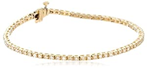 18k Yellow Gold 4-prong Diamond Tennis Bracelet (1.0 cttw, H-I Color, SI2-I1 Clarity), 7