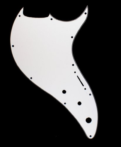 3 Ply Guitar Pickguard For Line 6 Variax 600 - WHITE (C06)