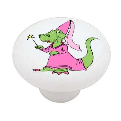 Dragon Princess High Gloss Ceramic Drawer Knob