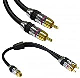 31HGP1K261L. SL160  Premium Grade Subwoofer Cable with Adaptor, 6 ft