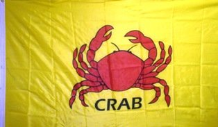 3x5 Foot Crab Flag with wording