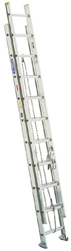 Werner D1240-2 225-Pound Duty Rating Aluminum Flat D-Rung Extension Ladder, 40-Foot