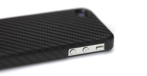 Tunewear CarbonLook Ultra Thin Case for iPhone 4 (Black) (Fits AT&T iPhone)