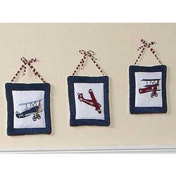 Vintage Aviator Airplane Wall Hanging Accessories by JoJo Designs