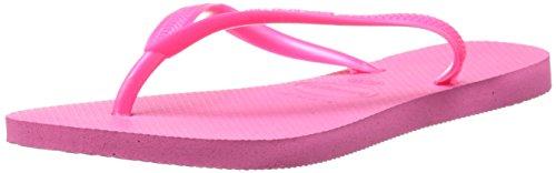 Havaianas Women's Slim Flip Flop, Shocking Pink, 39/40 BR/9-10 M US