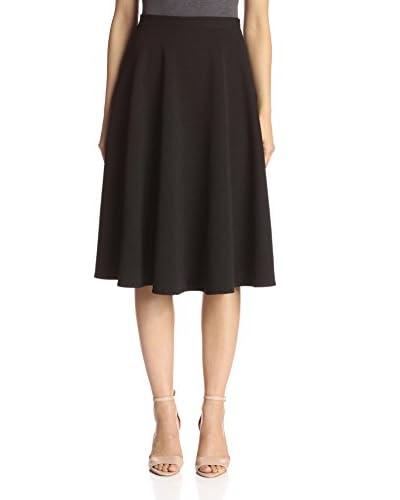 S.H.E. Soul Harmony Energy Women's Flared Midi Skirt  [Black]