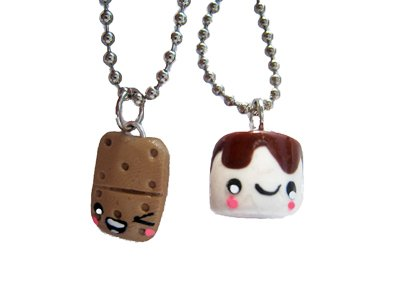 S'mores Campfire Best Friends Necklace - Set of 2 Included!