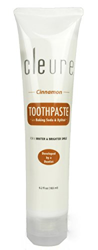 Cleure Toothpaste Sensitive Teeth Mint-free, Cinnamon - 6.2 Oz - Hypoallergenic, Natural, Sulfate-free, Fluoride-free with Xylitol & Baking Soda (Cinnamon Soda compare prices)