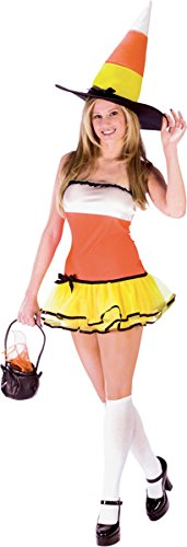 Adult Candy Corn Witch Costume - Womens M-L (8-14)