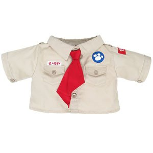 Build-A-Bear Workshop Khaki Camping Shirt