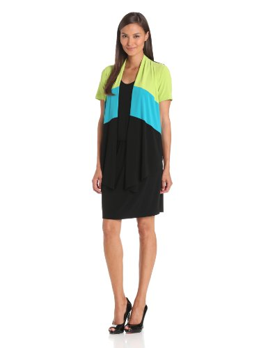 Danny & Nicole Women's Color Block Jacket Dress