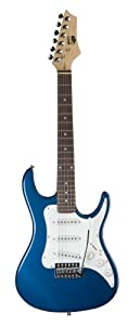 AXL Headliner Series Electric Guitar, 1/2 Sized, Blue by The Music Link (AXL)