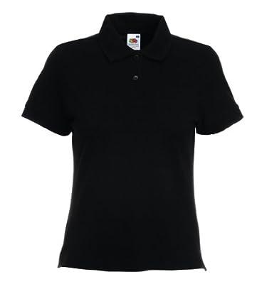 Fruit of the Loom Women's Short SleevePolo Shirt Black black Size:XXL