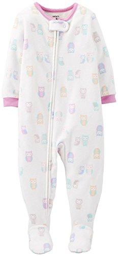 Carter'S Little Girls' Fleece Blanket Footie (Toddler/Kid) - Owl - 2T front-908759