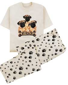 Pug Lounge Wear Set - Buy Pug Lounge Wear Set - Purchase Pug Lounge Wear Set (WhalesDirect, WhalesDirect Sleepwear, WhalesDirect Womens Sleepwear, Apparel, Departments, Women, Sleepwear & Robes, Womens Sleepwear, Pajama Sets, Womens Pajama Sets)