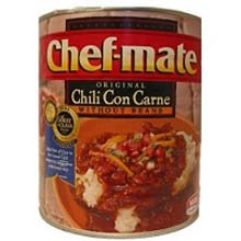 chef mate original chili con carne without beans 106 oz can 6 per case. Black Bedroom Furniture Sets. Home Design Ideas