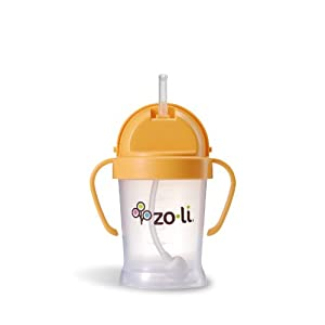 Zoli Baby BOT - Straw Sippy Cup - Orange - 6 oz