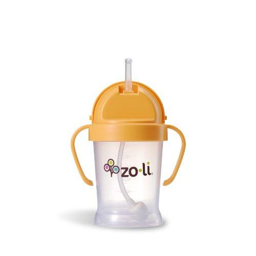 ZoLi BOT Straw Sippy Cup - Orange 6 oz