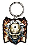 Hot Leathers - Cowboy Skull - Metal Keychain