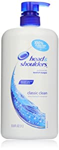 Head & Shoulders Classic Clean Dandruff Shampoo With Pump 33.8 Fl Oz (packaging may vary)