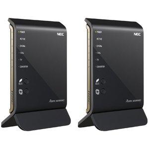 NEC 11ac対応 1300+450Mbps 無線LANルータ(イーサネットコンバータセット)Aterm WG1800HP2 PA-WG1800HP2/E