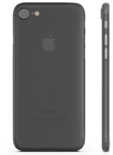 iPhone 7 Case , Transparent Thin 0,35 mm and Ultra Slim [LIFETIME GUARANTEE] RED CANARY - Case For iPhone 7 - Black