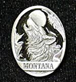 Pewter 3-D Collector Pin - Montana Wolf - Collectors Pin