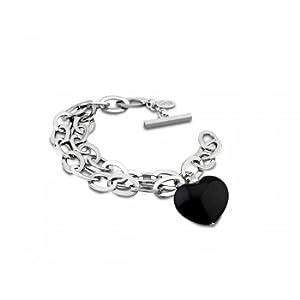Bracelet acier LOTUS Dame coeur noir - LS1367-2/2