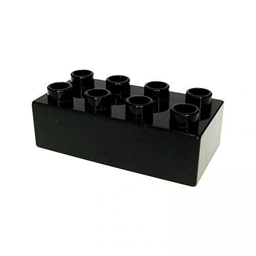 5 x Lego Duplo Basic Stein 2 x 4 schwarz für