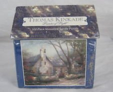 "Thomas Kinkade - Painter of Light - 100 Piece Miniature Jigsaw Puzzle - ""Morning Glory Cottage"" - 1"