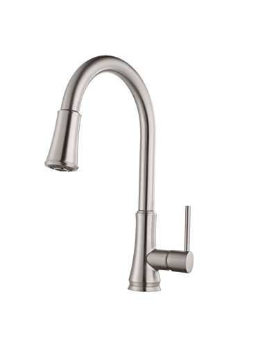Pfister Pfirst Series 1-Handle Pull-Down Kitchen Faucet, Stainless Steel (1 Handle Kitchen Faucet compare prices)