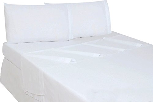Flat Sheet (King, White) Brushed Microfiber - Breathable, Extra Soft and Comfortable - Hotel Quality Extremely Durable by Utopia Bedding (King Size White Sheets compare prices)