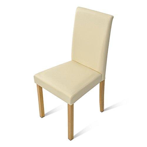 SAM-Polster-Stuhl-Billi-Esszimmer-Stuhl-mit-Lederimitat-in-creme-massive-Holzbeine-in-Buche-Design-Stuhl-fr-Kche-und-Esszimmer