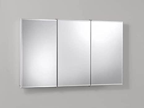 Jensen 755296 Ashland Frameless Medicine Cabinet, Classic White Wood, Surface Mount, 48-Inch by 28-Inch