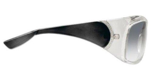 Alexander McQueenAlexander McQueen AMQ 4107/S TBB Crystal Grey Oval Sunglasses