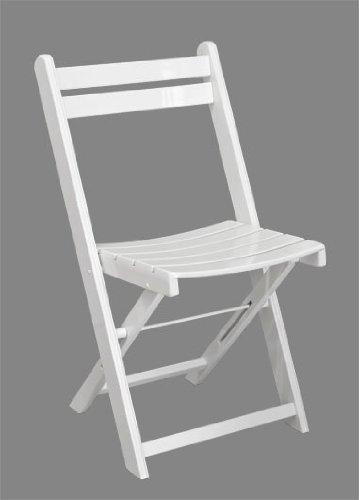 Gartenstuhl No 9 - Klappstuhl stapelbar aus Holz - weiß lackiert - Qualität aus Deutschland