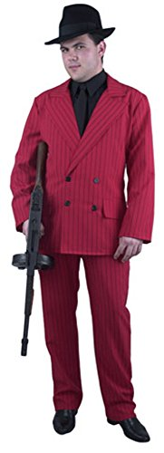 Men's Red Gangster Suit Costume (Size: Large 42-44)